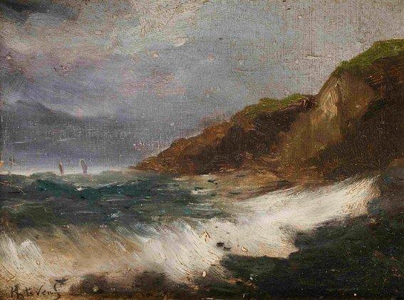 la tempête by alfred stevens