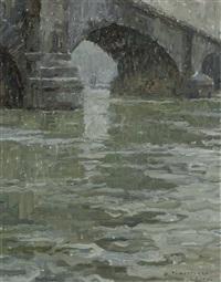 vue du london bridge by albert baertsoen