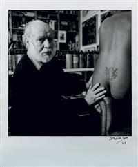le dos nu de victoria, modèle dans l'atelier de corneille, paris mars by roberto battistini