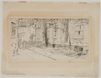 spring in milligan place by childe hassam