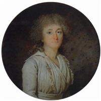 portrait de femme by marie-victoire lemoine