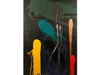 a colourful abstract study by bruce mclean