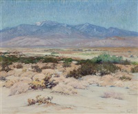 desert landscape - looking towards mt. san jacinto and idyllwild by john frost