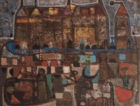 scène de tauromachie by constantin ubeda