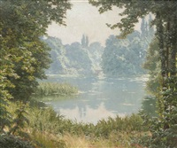 a summer's day on the lake by henri biva
