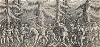 schlacht der bauern gegen die waldmenschen by nicolas hogenberg