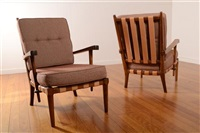 armchairs (pair) by schulim krimper