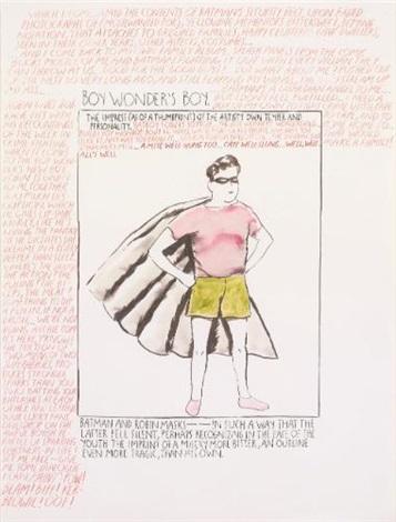 untitled (boy wonder's boy) by raymond pettibon