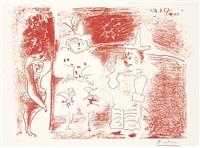 l'ecuyère et les clowns by pablo picasso