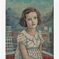retrato de menina by alberto da veiga guignard