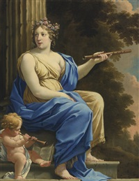 euterpe, the muse of music and lyric poetry by simon vouet