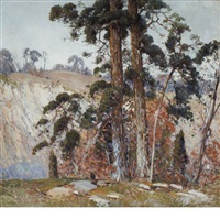 the edge of a cliff by alfred heber hutty