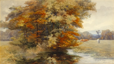 autumn in an irish park by mary georgina barton