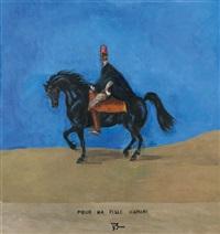 souvenir du maroc, autoportrait à cheval by balthus