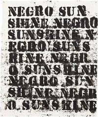 study for negro sunshine ii #14 by glenn ligon