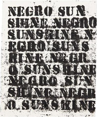 study for negro sunshine ii 14 by glenn ligon