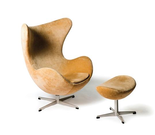 Sessel Egg Chair 3316 Mit Ottoman By Arne Jacobsen On Artnet