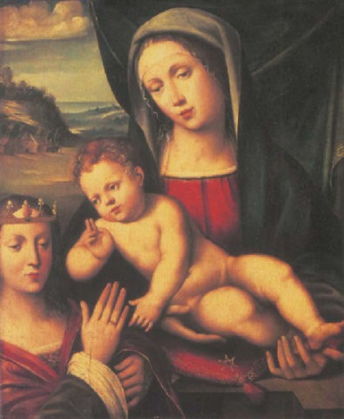 the mystic marriage of saint catherine by giacomo francia