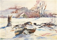 chadd's ford landscape by andrew wyeth