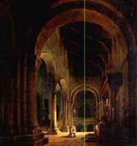 innenansicht einer pariser kirche by friedrich gartner