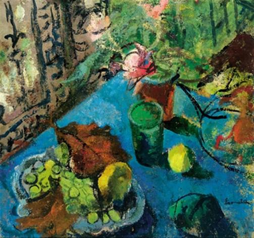 Nature Morte Au Tapis Bleu By Willy Eisenschitz On Artnet