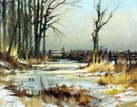 a river in winter by john lines
