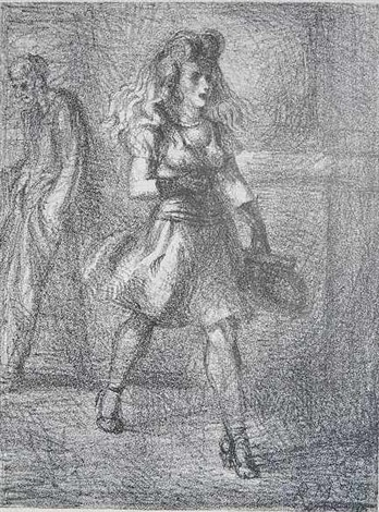 girl walking by reginald marsh
