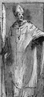 saint in a niche by giovanni (il cosci) balducci