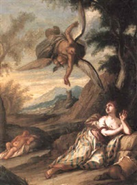 the angel appearing to hagar in the desert by giulio benso