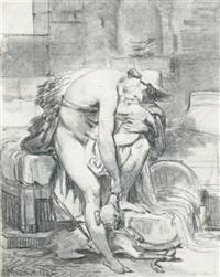 hermès et bacchus by françois bouchot