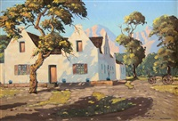cape homestead with a wagon by nils severin andersen