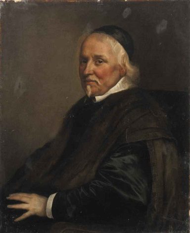 portrait of a cleric seated by philippe de champaigne