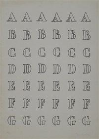 alfabeto (nero), pl. 1 (from 8 tavole di accertamento) by piero manzoni