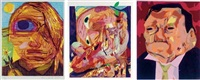 untitled (+ 2 others; 3 works) by dana schutz