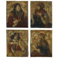 old testament prophets; zechariah, isaiah, balaam, and jeremiah (various sizes; suite of 4) by spanish school (15)