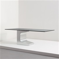 working prototype dining table (from the editioned series for the firm móveis teperman ltda., brazil) by oscar niemeyer