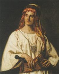 portrait of a gentleman in arab costume by charles antoine joseph loyeux