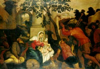 the adoration of the shepherds by giambattista da ponte bassano
