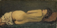 nude (odalisque) by raphael soyer