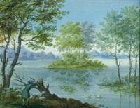 landschaftsdarstellungen (3 works) by carl sebastian von bemmel