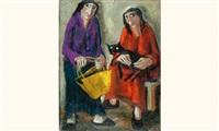les deux femmes au chat by élie pesatori