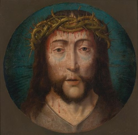 christ as the man of sorrows by flemish school 16