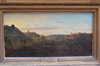 soleil couchant (gorges d'apremont, barbizon) by auguste paul charles anastasi