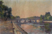 le pont royal à paris by jules ernest renoux