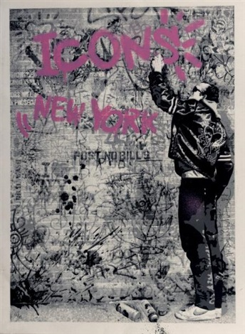 the wall pink by mr brainwash