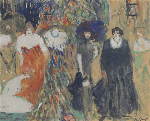 les sept actrices by kees van dongen