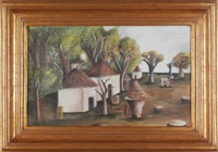 village scene by maría izquierdo