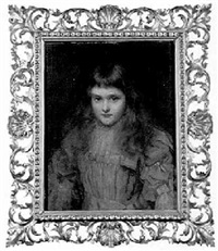 portrait of audrey bruce, daughter of allan bruce-pryce, esq. by stephen catterson smith the younger