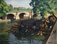 paris, la seine by jean constant raymond renefer