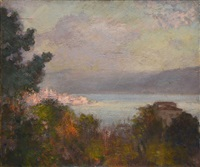 lac au crépuscule by alfred roll